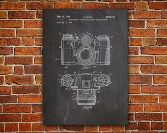 Camera Art Canvas painting, Camera Wall Poster, Vintage Camera Decor, Camera Patent Poster, Retro Camera Decor,Antique Camera Decor