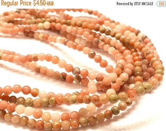 40% OFF FLASH SALE Natural Agate 4mm Round Beads, Multicolored Agate Beads, 4mm beads, Natural Stones, Natural Agate Round Beads