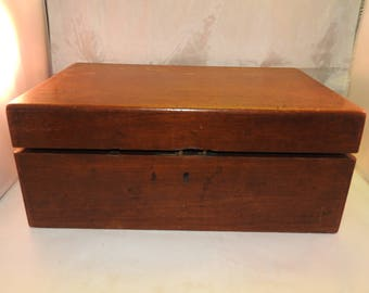 antique victorian mahogany writing box