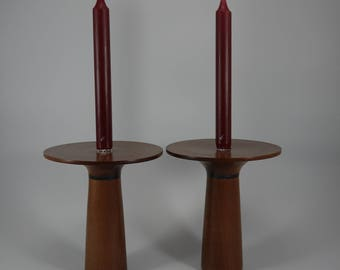 Sapele Candle Stick Holders (Pair)