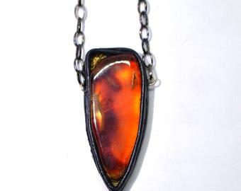 Cornelian pendant, bulk cornelian pendant, Leather pendant, gemstone pendant, statement pendant, red stone pendant