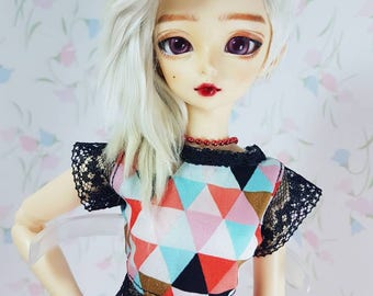 MNF triangle patterned laced top for minifee slim msd