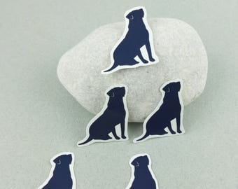 "Small sticker Kit ""Labrador"" silhouette"