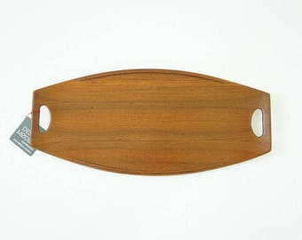 D217 Danish Mid Century Modern Teak Serving Tray by Jens Quistgaard for Dansk