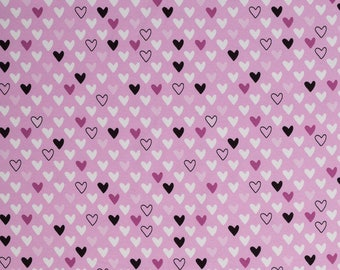 0, 5m Jersey heart hearts black white lilac