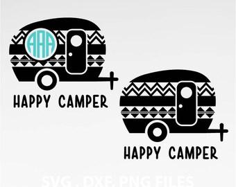 Instant Download, Aztec Happy Camper SVG, traveler svg, DXF, PNG Formats 0060