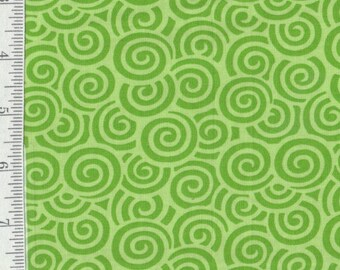 SALE! Hi-Di-Ho - per Yd - by Me and My Sister - Moda - Great Mixers - Green Swirls