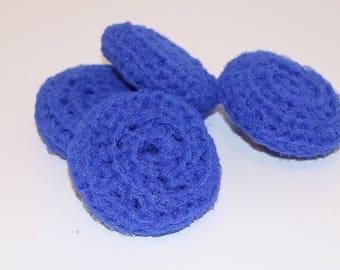 Scrubbies Crochet Set of 4 Bright Blue Color