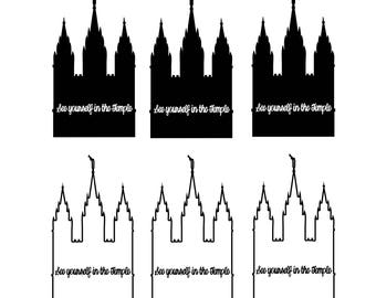 LDS Temple Vinyl Decal Set Of 6: See Yourself In The Temple