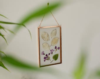 """Real pressed flower wall hanging 