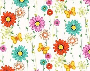 MICHAEL MILLER fabric CX7508-GARD-D : Doodle Daisy Gard / Cut 50x55 cm