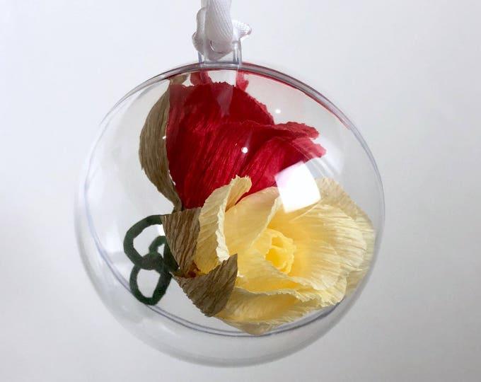 Paper Rose Ornament