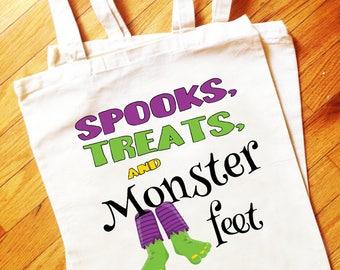 Halloween, Trick or Treat Bag, Candy Bag, Halloween Tote, Reusable Tote, Halloween Party, Halloween Gift, Halloween Shirt, Tote, Bag
