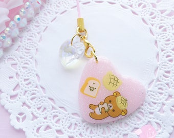 Rilakkuma Bakery Resin phone charms, kawaii decoden charm, rilakkuma phone charm, kawaii phone charm, decoden charm