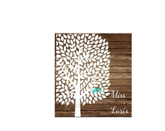 love birds and tree leaves SVG DFX Cut file Love birds svg, Wedding svg, Guest book svg, tree svg, commercial license