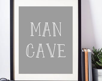 Man Cave - Man Cave Sign - Gift for Husband - Man Cave Decor - Man Cave Wall Art - Gift for Him - Man Cave Gift - Gift for Dad - Mancave