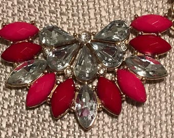 Bright chunky statement necklace