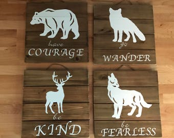 Woodland Nursery Signs