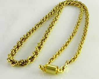 "22"" Heavier Gilt Sterling Neck Chain 928 Italy"