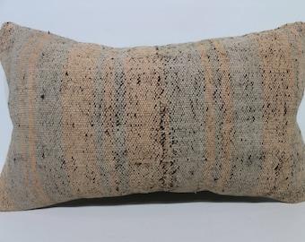 Anatolian Kilim Pillow Boho Pillow Striped Kilim Pillow 12x20 Lumbar Kilim Pillow Ethnic Kilim Pillow Throw Pillow Cushion Cover SP3050-1820