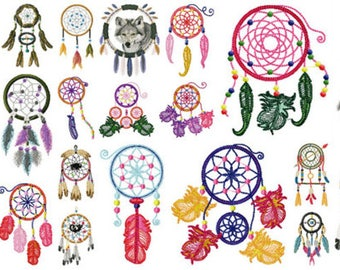 DREAM CATCHER designs for embroidery machine, instant download