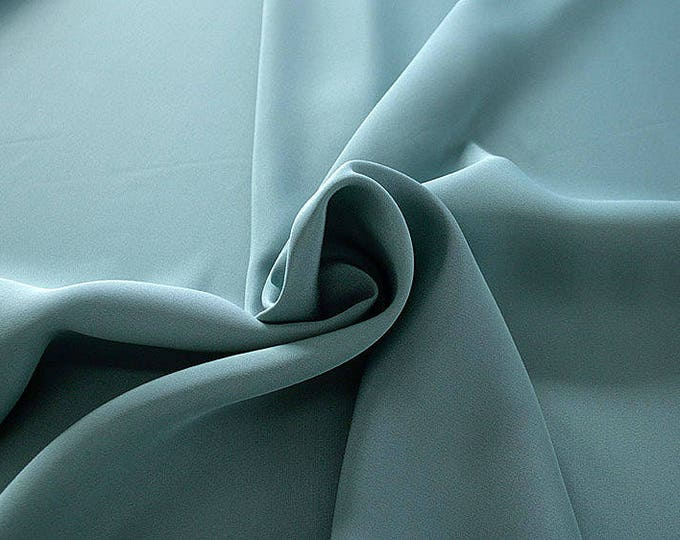 305098-Crepe marocaine Natural Silk 100%, width 130/140 cm, made in Italy, dry cleaning, weight 215 gr