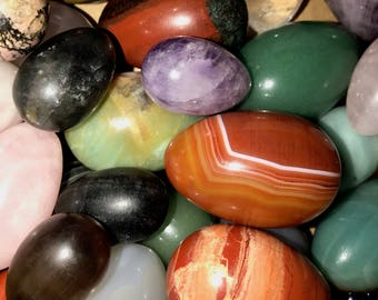 Clearance INDIVIDUAL Yoni Eggs, Slight Imperfections, Large, Medium, Small, Drilled & Undrilled, Assortment of Gemstones, SALE