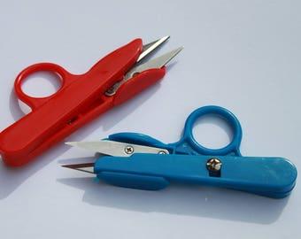 Thread Cutting Scissors - 12 cm with Plastic Handle