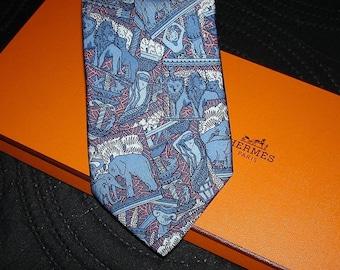 Hermes Silk Tie 7374 PA Made in France Cravate HERMES