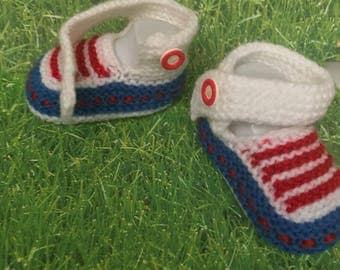 American booties, american flag baby booties, patriotic baby booties, 4th of July gift, newborn socks, , gift for niece, booties for baby