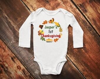 First Thanksgiving Onesie ®, 1st Thanksgiving Onesie ®, Fall Onesie ®, Thanksgiving Shirt, Pumpkin Pie Onesie ®, Turkey Onesie ®