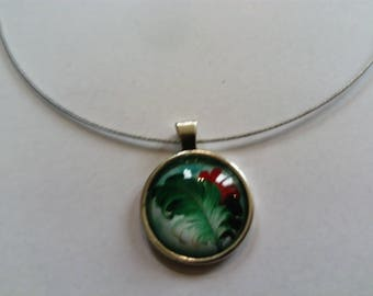 colorful feather pendant