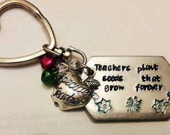 Teachers gift // Teachers Plant Seeds that grow // Teacher Keyring// Gift for that special Teacher //
