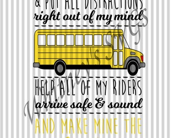 Help Me to Be Friendly Cautious and Kind School Bus SVG DXF Cutting File