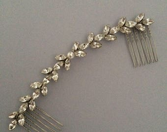 Gold Silver Swarovski Bridal Hair Vine