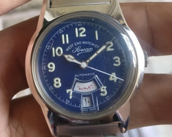 WEST END WATCH Co. Swiss made Automatic vintage watch~Day/Date @ 6~Luminous