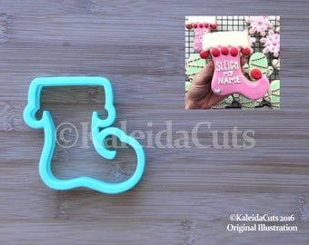 Elf Stocking Cookie Cutter. Christmas Cookie Cutter. Baking Gifts.