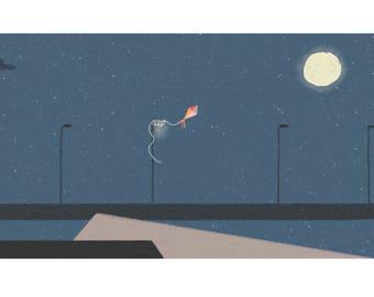 Night gliding