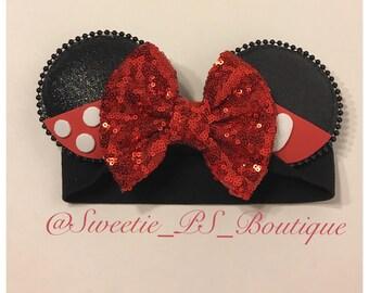 Mickey/ Minnie ears headband