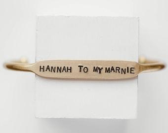 Hannah To My Marnie | Marnie To My Hannah | GIRLS | Galentine's Day | Bestie Bracelet | Best Friends | Friends Forever