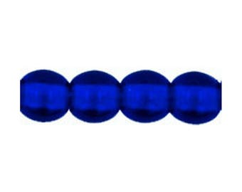 Czech Glass Beads - Round Beads - Cobalt Blue Beads - 4mm Round Beads - 100 Beads