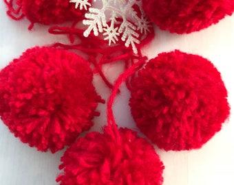 Shatterproof christmas ornament, christmas ornaments, pom poms, christmas decor, holiday decor