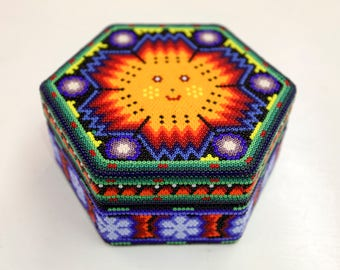 Mexican Beaded Jewelry Box