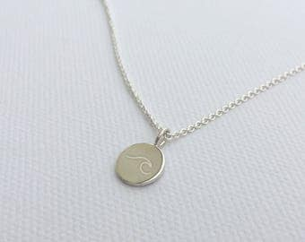Tag necklace shaft (length: 45 cm, material: Silver)