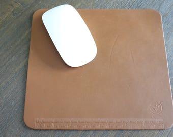 L.Brown Latigo Leather Multi Function Mouse Pad