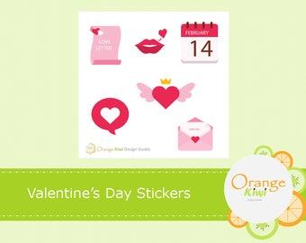 Valentine's Day Stickers, Valentine's Day Sample Set, Planner Stickers