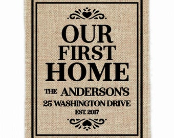 Housewarming Gift | Our First Home | New Home Housewarming Gift | Our First Home Sign | First Home Gift | House Warming Gift | New Home