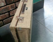 1950 s  The Stoawa  Stowed away Vintage Folding Canvas Suitcase