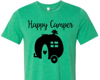 Happy Camper  shirt,  Camper shirt, Happy shirt, Happy Camper,  made by Enid and Elle