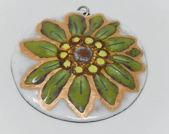 Limoges enamelled pendant, free delivery!
